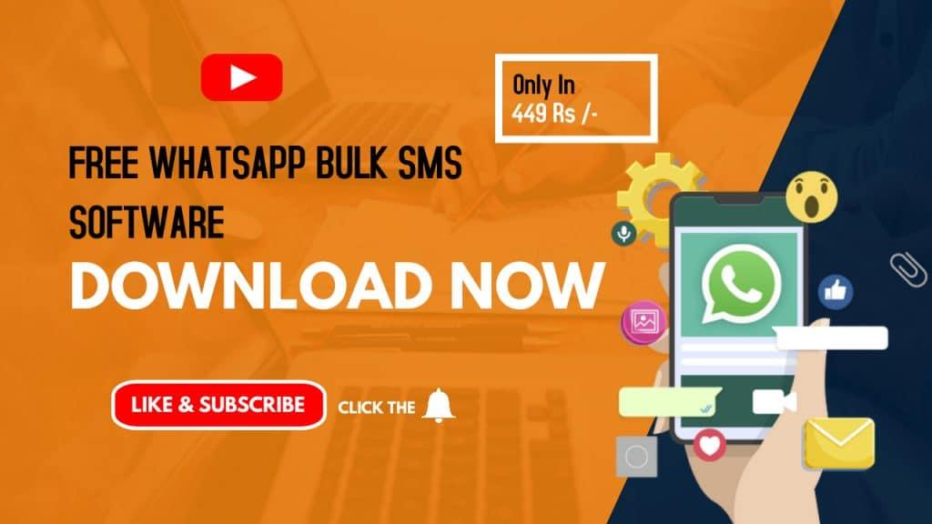 Free Whatsapp Bulk SMS Software – Free Whatsapp Bulk SMS Sender Tool