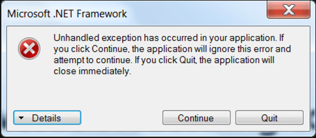 How to Fix the 'Unhandled Exception has Occurred in your Application' Error on Windows?
